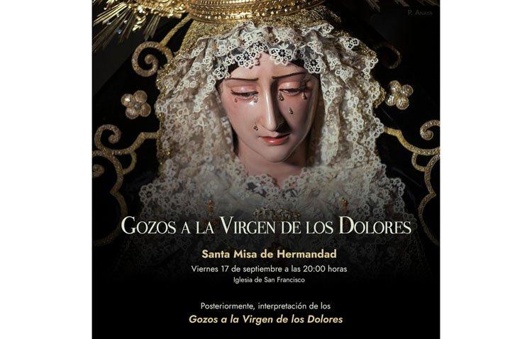 Los 'Gozos a la Virgen de los Dolores', este viernes en la iglesia de San Francisco
