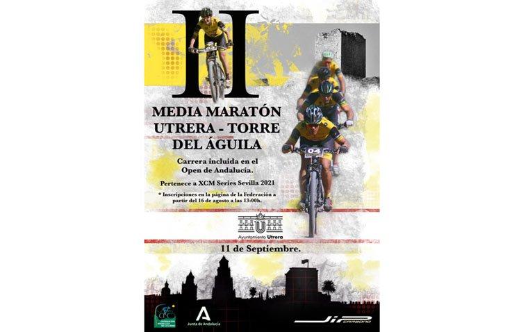 Una jornada para disfrutar de la bicicleta en la media maratón Utrera – Torre del Águila