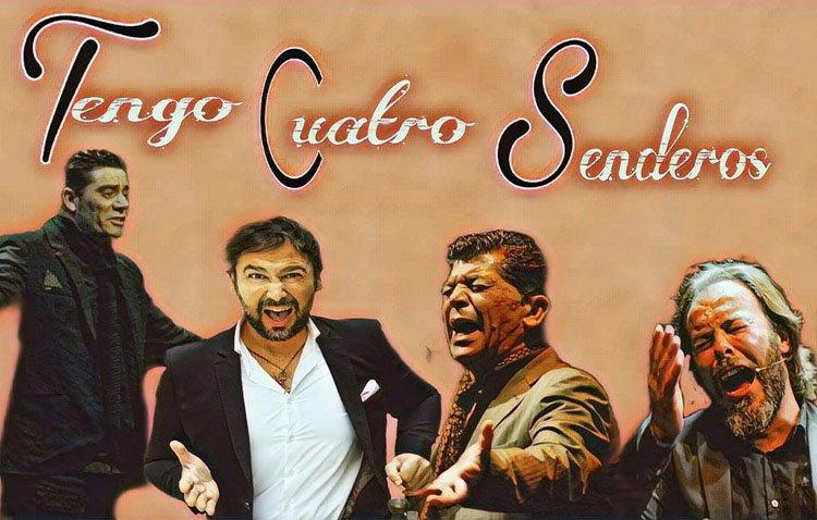 Tomás de Perrate, José Valencia, David El Galli y Jesús de la Frasquita, en concierto en el castillo de Utrera